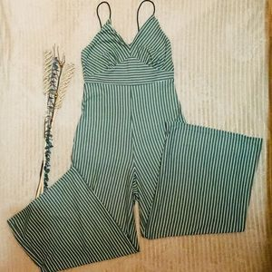 💕pin striped jumpsuit